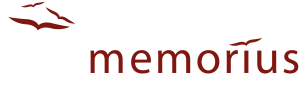 Logo Memorius - Das Fotobuch zur Trauerfeier. Fotodruck für Bestatter und Beerdigungsinstitute von Beerdigungen und Abschiednahmen.